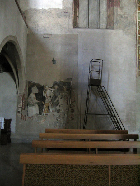 Here you can see a ladder used for restoration of the frecoes.