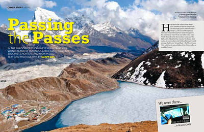 Three Passes of Everest Outlook Traveller June 2013