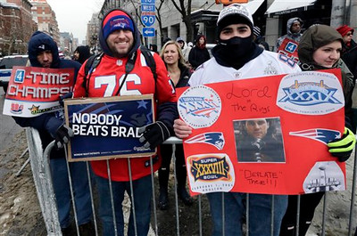 New England Patriots Rolling Rally