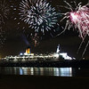After almost 41 years of service, QE2  leaves Southampton for the last time on the evening of 11 November 2008 on her way to her new home in Dubai where she will be transformed into a five-star luxury floating hotel to a firework display to remember