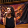 """Sasha Jones, a junior at Vista Del Lago High School in Moreno Valley sings """"Lift Every Voice and Sing"""", 33rd annual Martin Luther King Jr. holiday celebration presented by the Pomona-Inland Valley Martin Luther King Jr. Project and the National Council of Negro Women's Pomona Valley Section, on Sunday, January 18, 2015. (Photo by Frank Perez/ Correspondent)"""