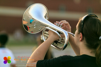 NCHS Marching Ironmen rehearsal on August 21, 2014