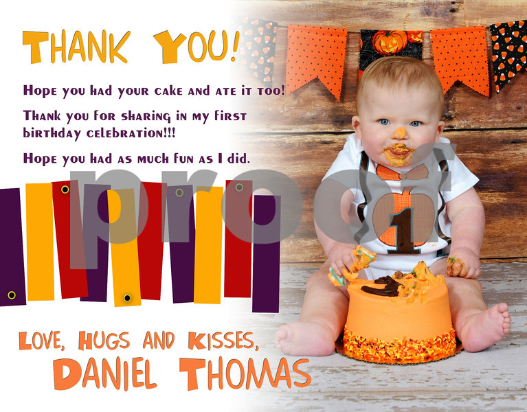 Thank You Note- Baby Daniel