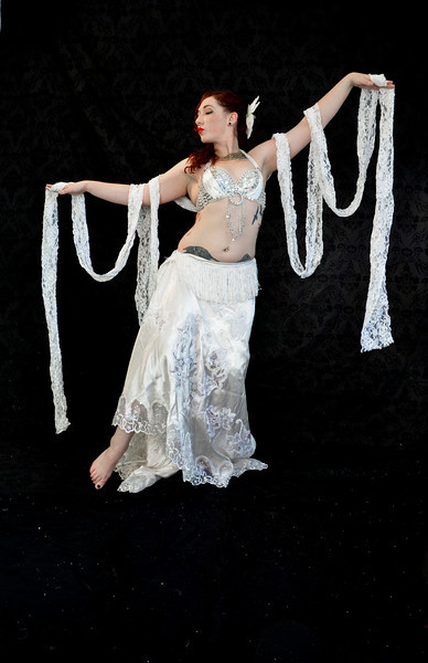 Belly Dancer White Outfit