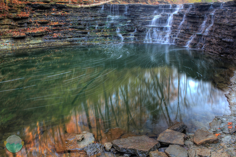 Gorge Falls<br /> A waterfall located at Sharon Woods on the north side of Cincinnati.
