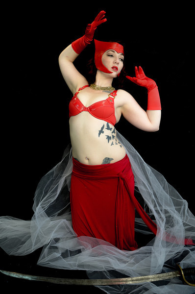 Belly Dancer in Red Set 4