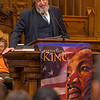 Rabbi Zev-Hayyim Feyer speaks on memories of a movement, at the 33rd annual Martin Luther King Jr. holiday celebration presented by the Pomona-Inland Valley Martin Luther King Jr. Project and the National Council of Negro Women's Pomona Valley Section, on Sunday, January 18, 2015. (Photo by Frank Perez/ Correspondent)