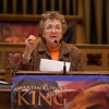 Keynote speaker, Rosemary Radford Ruether, visiting professor at Claremont School of Theology, at the 33rd annual Martin Luther King Jr. holiday celebration presented by the Pomona-Inland Valley Martin Luther King Jr. Project and the National Council of Negro Women's Pomona Valley Section, on Sunday, January 18, 2015. (Photo by Frank Perez/ Correspondent)