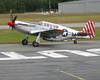 "P51 Mustang 'Betty Jane"" Landing at Plymouth Airport"