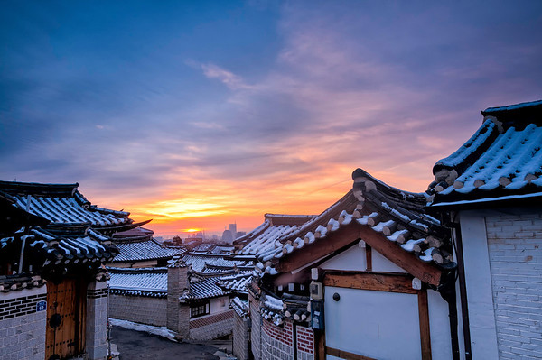 Bukchon Sunrise, December 2013