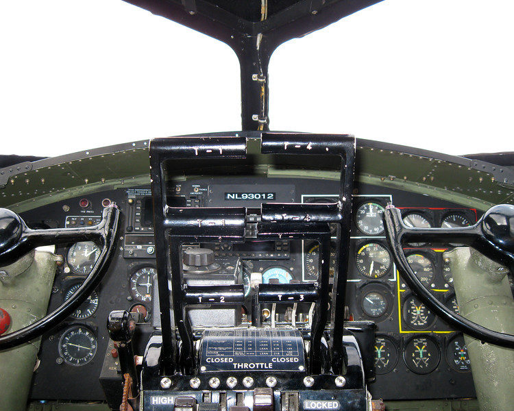 B17 Cockpit, Plymouth Airport