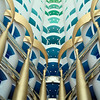 Inside the Burj Al Arab Hotel, the only 7-star hotel in the world. Majestic!