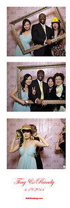 Randy + Ting Wedding Photobooth 4/19/2014