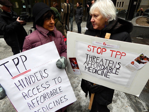 Toronto March in Solidarity with Inter-Continental Day of Action against the TPP and Corporate Globalization
