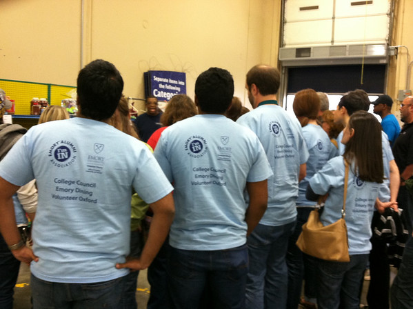 Emory Cares Day: Atlanta Food Bank 11.9.2013
