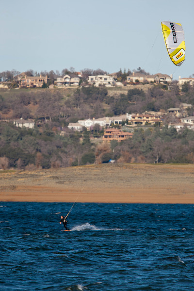Folsom Lake Kiteboarding 2-23-2012