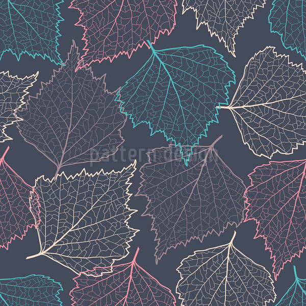 Colorful leaf silhouettes seamless
