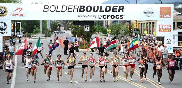 2013 WOMENS ELITE BOLDER BOULDER RACE