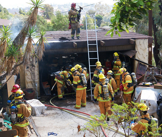 Bobbie Lane Structure Fire 10-5-08 | East County News | On Scene San Diego