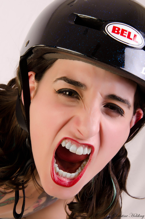 Roller Derby Girl, Tamilla Swanson of the Harbour Hellcats 2012
