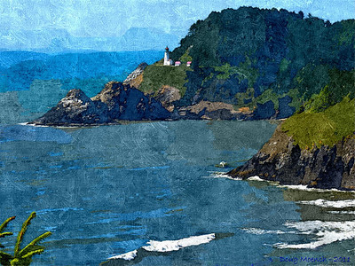 Heceta, Head, Lighthouse, PhotoIllus