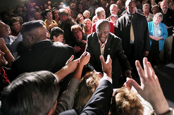 Republican presidential candidate Herman Cain, Nov.10, 2011