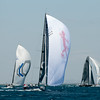 24.07.2011. Sailing Audi MedCup circuit stage from Cagliari, Italy. Region of Sardinia Trophy, class TP 52 series regatta. Fleet during the downwind leg.