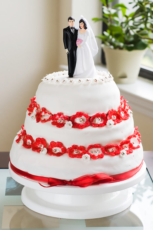Our wedding cake - made by the bride.