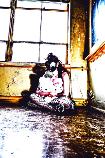 Pepper Gas mask and Hello Kitty