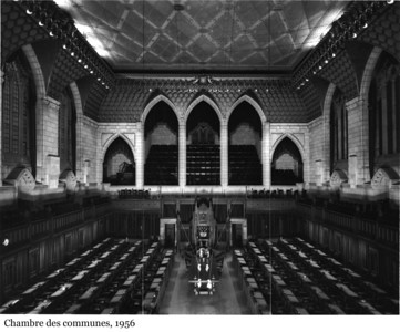 House of Commons Chamber - Chambre des communes, 1956