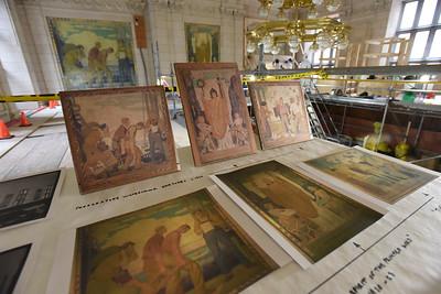 Les peintures de l'ancienne Salle de lecture