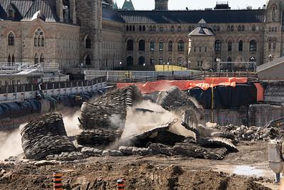 Travaux d'excavation