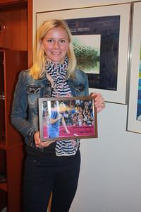 2012 - Ragna Ingólfsdóttir, badmintonkona, þakkaði ÍSÍ fyrir stuðninginn.