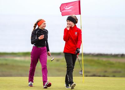 Kinga Korpak, GS, Eva María Gestsdóttir, GKG. Mynd/seth@golf.is
