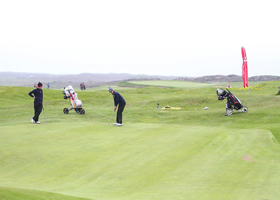 Dagbjartur Sigurbrandsson, GR og Andri Már Guðmundsson GM. Mynd/seth@golf.is