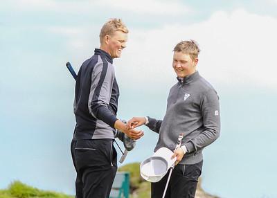 Birgir Björn Magnússon, GK, Axel Fannar Elvarsson, GL. Mynd/seth@golf.is