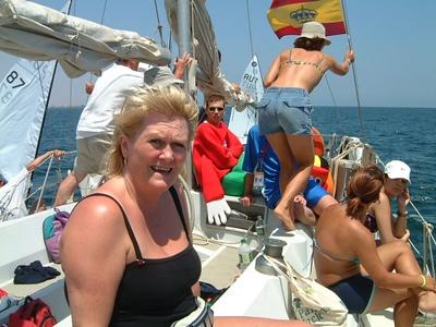 Helga á sjó.