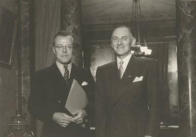 Avery Brundage og Burghley lávarður.