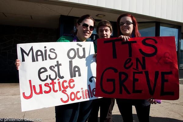 grève du 20 mars 2012 à Jonquière