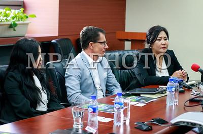 """2017 оны аравдугаар сарын 09. """"Экспо Монголиа-2017"""" олон улсын бага хурал, үзэсгэлэн яармагийн талаар мэдээлэл хийлээ . ГЭРЭЛ ЗУРГИЙГ Г.ӨНӨБОЛД /MPA"""