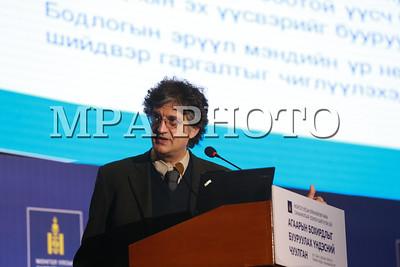 2017 оны аравдугаар сарын 23. Монгол Улсын Ерөнхийлөгчийн санаачилгаар зохион байгуулж байгаа Агаарын бохирдлыг бууруулах Үндэсний чуулга  болж байна. ГЭРЭЛ ЗУРГИЙГ Б.БЯМБА-ОЧИР/MPA