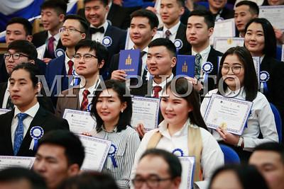 """2018 оны гуравдугаар сарын 14. """"Инженер, технологийн дээд боловсрол"""" төслийн хүрээнд Япон улсад суралцах багш, судлаач, оюутнуудад батламж гардууллаа .ГЭРЭЛ ЗУРГИЙГ Г.ӨНӨБОЛД /МРА"""