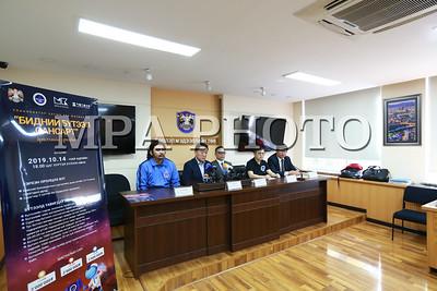 2019 оны есдүгээр сарын 25. НЗДТГ болон Монголын сансар судлалын хөгжлийн төв хамтран Улаанбаатар хотын 380 жилийн ойн хүрээнд зохион байгуулагдах арга хэмжээний талаар мэдээлэл хийлээ.  ГЭРЭЛ ЗУРГИЙГ Б.БЯМБА-ОЧИР/MPA