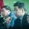 """Монгол улс, Улаанбаатар хот. 2014 оны 1 дүгээр сарын 10.   Ажлаа хаяад гурав дахь өдрийнхөө нүүрийг үзэж байгаа """"Автобус-I"""" ОНӨҮГ-ын ажилчид таван зүйлтэй шаардалгыг ҮЭХ-ны зарим удирдлагаараа дамжуулан захиргаандаа болон хотын удирдлагуудад өгчээ.<br /> Тэдний тавьж буй шаардлагууд зөвхөн цалин бус, шийдвэл зохих нийгмийн хамгааллын олон асуудал байгаа аж. Харин тэд энэ талаараа сэтгүүлчдэд мэдээлэл хийлээ.<br /> MPA PHOTO/ Б.БЯМБА-ОЧИР"""