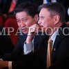 Монгол улс, Улаанбаатар хот. 2013 оны 10 дугаар сарын 27. Монгол Ардын намын 27-р Их хурал дээр  МАН-ын гишүүн С.Баяр, Сү.Батбод нар сууж байна. Монгол Ардын намын 27-р Их хурал соёлын төв өргөөнд эхэллээ. Их хурлыг удирдан явуулж буй тус намын гишүүн, хурал зохион байгуулах комиссын дарга Д.Дэмбэрэл хурлын эхэнд энэ удаагийн Их хурлаар хэлэлцэх ерөнхий асуудлууд, хурлын хөтөлбөрийг танилцуулав. Танилцуулснаар, Их хурлаар есөн үндсэн асуудал хэлэлцэх бөгөөд үүнд, МАН-ын дарга Ө.Энхтүвшингийн улстөрийн илтгэл, Мандатын комиссын илтгэл, намын 26-р Их хурлаас хойш хийж гүйцэтгэсэн ажлын тайлан, Хяналтын ерөнхий хорооны тайлан, МАН-ын дүрмийн асуудлаарх салбар хуралдааны мэдээлэл сонсох, Намын дүрэмд өөрчлөлт оруулах тухай салбар хуралдааны мэдээлэл сонсох, Монгол Улсын 2021 он хүртэлх хөгжлийн зорилт, Намын үйл ажиллагааны шинэчлэлийн талаарх дүгнэлт, Зохион байгуулалтын асуудал зэрэг багтжээ. Их хурлаас гол хүлээлт үүсгээд буй зохион байгуулалтын асуудалд Монгол Ардын намын даргыг сонгох тухай, Бага хурлын гишүүдийг сонгох тухай, Хяналтын ерөнхий хорооны гишүүдийг сонгох тухай гэсэн асуудал багтжээ. Их хурал гурван өдөр үргэлжилж, аравдугаар сарын 29-нд өндөрлөх юм. <br /> ГЭРЭЛ ЗУРГИЙГ БЯМБАСҮРЭНГИЙН БЯМБА-ОЧИР