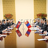 Монгол улс, Улаанбаатар хот. 2013 оны 10 дугаар сарын 28.  Монгол Улсын Ерөнхийлөгч Цахиагийн Элбэгдоржийн БНАСАУ-д хийж буй төрийн айлчлал энэ сарын 28-нд эхэллээ. Үүний дараа Мансүдэгийн Ардын Их Хурлын ордонд Монгол Улсын Ерөнхийлөгч Цахиагийн Элбэгдорж, БНАСАУ-ын Ардын дээд Хурлын Тэргүүлэгчдийн дарга Ким Ён Нам нар албан ёсны хэлэлцээ хийлээ.<br />  <br /> Хэлэлцээний дараа Монгол Улс, БНАСАУ-ын харилцаа, хамтын ажиллагааны баримт бичгүүдэд гарын үсэг зурах ёслол болов. Үйлдвэр, хөдөө аж ахуйн салбарт хамтран ажиллах тухай БНАСАУ-ын Засгийн газар болон Монгол Улсын Засгийн газар хоорондын хэлэлцээрт БНАСАУ-ын Гадаад харилцааны сайд Ри Жон Нам, Монгол Улсын Үйлдвэр, хөдөө аж ахуйн сайд Х.Баттулга нар, Соёл, спорт, аялал жуулчлалын салбарт хамтран ажиллах тухай БНАСАУ-ын Засгийн газар, Монгол Улсын Засгийн газар хоорондын хэлэлцээрт БНАСАУ-ын Гадаадтай соёлоор харилцах хорооны дарга Ким Дун Сук, Монгол Улсын Гадаад харилцааны сайд Л.Болд нар, Зам тээврийн салбарт хамтран ажиллах тухай БНАСАУ-ын Засгийн газар, Монгол Улсын Засгийн газар хоорондын хэлэлцээрийг шинэчлэн байгуулах тухай протоколд БНАСАУ-ын Газар, далай, тээврийн яамны дэд сайд Пак Ил Ён, Монгол Улсаас БНАСАУ-д суугаа Онц бөгөөд Бүрэн эрхт Элчин сайд М.Ганболд нар, БНАСАУ-ын Программ хангамжийн ерөнхий газар, Монгол Улсын мэдээллийн технологи, шуудан, харилцаа холбооны газрын хооронд 2013-2015 онд хамтран ажиллах ажлын төлөвлөгөөнд Программ хангамжийн ерөнхий газрыг төлөөлж тус газрын орлогч дарга Зун Цун Цан, Монгол Улсаас БНАСАУ-д суугаа Онц бөгөөд Бүрэн эрхт Элчин сайд М.Ганболд нар тус тус гарын үсэг зурлаа.