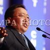 2016 оны гуравдугаар сарын 31.  Монголын эдийн засгийн чуулган 2016 төрийн  ордонд хоёр дах өдрөө  болж байна. Монгол Улсын Ерөнхийлөгч Ц.Элбэгдорж үг хэлж байна. ГЭРЭЛ ЗУРГИЙГ Б.БЯМБА-ОЧИР/MPA