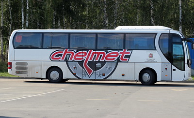 Автобус команды Челмет (Челябинск)