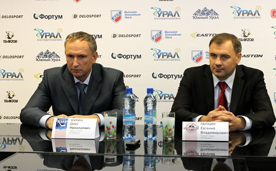 Главный тренер челябинского Челмета Евгений Галкин и главный тренер ХК Рязань Олег Курин прокомментировали матч, в котором Челмет выиграл в овертайме со счетом 3:2