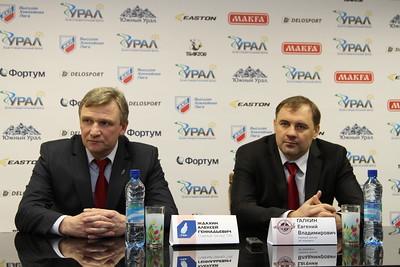 Главный тренер челябинского Челмета Евгений Галкин и главный тренер ТХК Алексей Ждахин прокомментировали матч, в котором ТХК выиграл со счетом 4:3